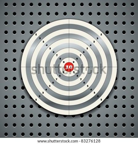 Target on steel background