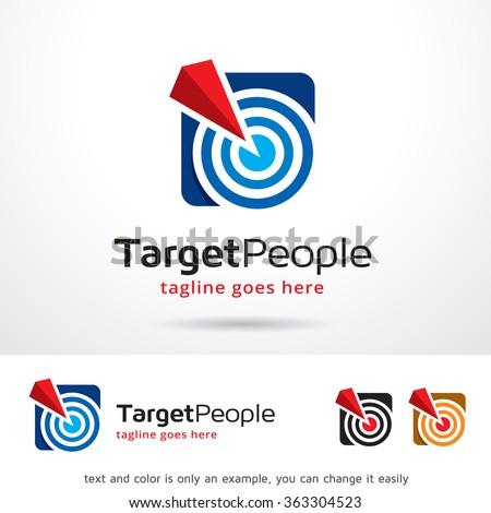 Target People Logo Template Design Vector