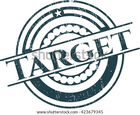 Target rubber grunge texture seal