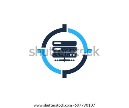 Target Server Icon Logo Design Element