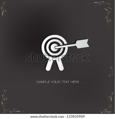 Target sign,vector