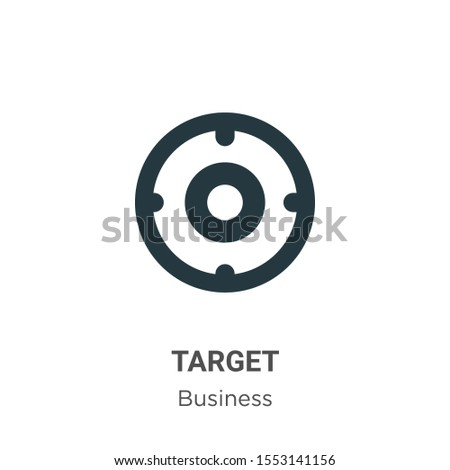 Target symbol vector icon on white background. Flat vector target symbol icon symbol sign from modern business collection for mobile concept and web apps design.