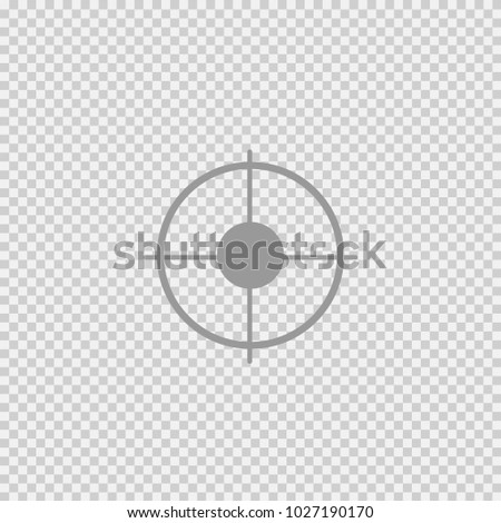 Target vector icon eps 10. Simple isolated symbol logo.