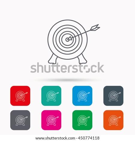 target with arrow icon archery