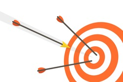 Target with arrows. Vector illustration.