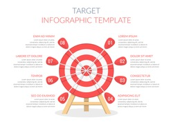 Target with eight arrows, infographic template, vector eps10 illustration