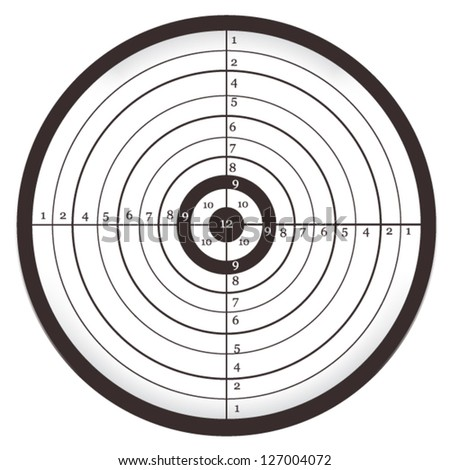 Target with numbers, Bull's Eye, Aim, Shooting ... - stock vector