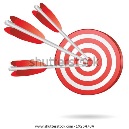 target  with three red arrows in center