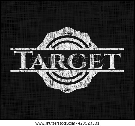 Target written with chalkboard texture