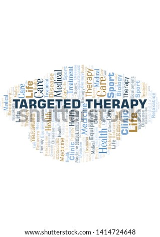 Targeted Therapy word cloud. Wordcloud made with text only.