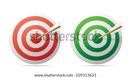 Targets and arrows. Vector