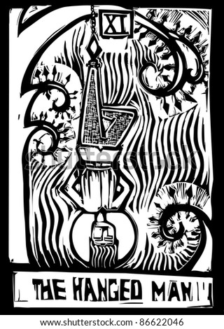 Tarot Card Major Arcana image of the Hanged Man