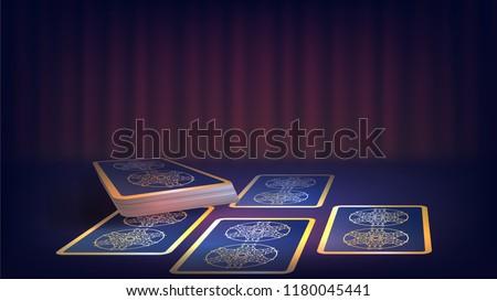 tarot on the fortune teller's