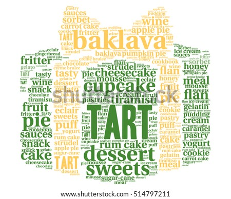 Vector Images, Illustrations and Cliparts: Tart  Word cloud