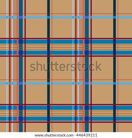 tartan brown seamless pattern