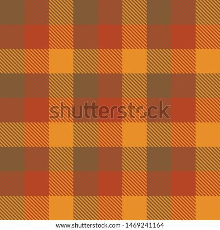 Tartan Fall Seamless Pattern Plaid. Autumn color panel Plaid, Tartan Flannel Shirt Patterns. Trendy Tiles Vector Illustration for Wallpapers.  Сток-фото ©