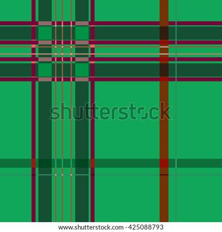 tartan green seamless pattern