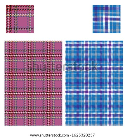 Tartan plaid pattern swatch colrable.  Double click on global color in swatches panel, ckeck preview box and change value