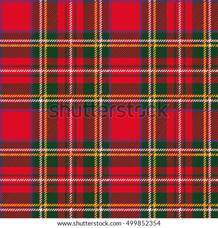 Tartan, plaid Seamless pattern. Wallpaper,wrapping paper,textile.Fashion illustration,vector,background.Christmas,new year  decor.Traditional red,black,green scottish ornament,Retro style.