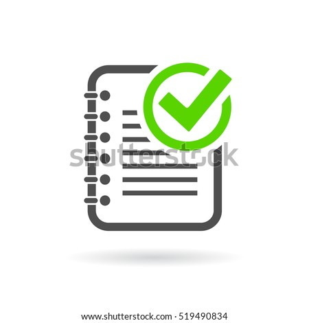 Task completed icon vector illustration on white background