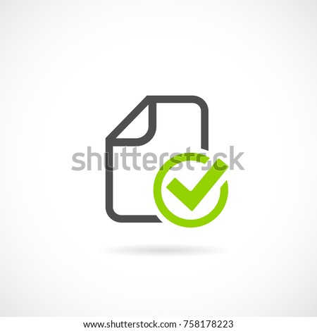 Task completed vector icon illustration isolated on white background
