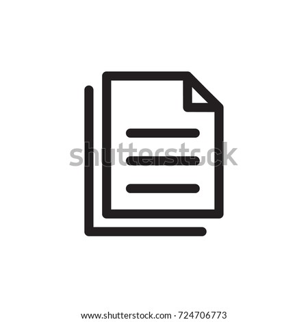 task icon vector. task outline style design