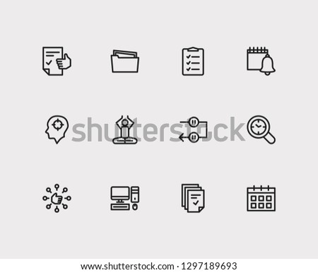 Task icons set. Mediate and task icons with capability, tasks and group tasks. Set of person for web app logo UI design.