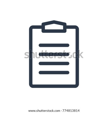 Task list icon. Isolated clipboard and task list icon line style. Premium quality clipboard  vector symbol drawing task concept for your logo web mobile app UI design.