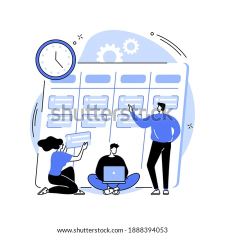 Task management abstract concept vector illustration. Project manager tool, business software, productivity online platform, task management application, progress tracking abstract metaphor.