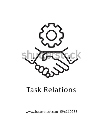 Task Relation Vector Line Icon