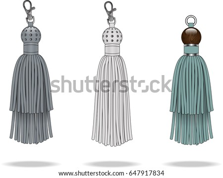 tassels with metal studs