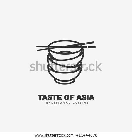 taste of asia logo template