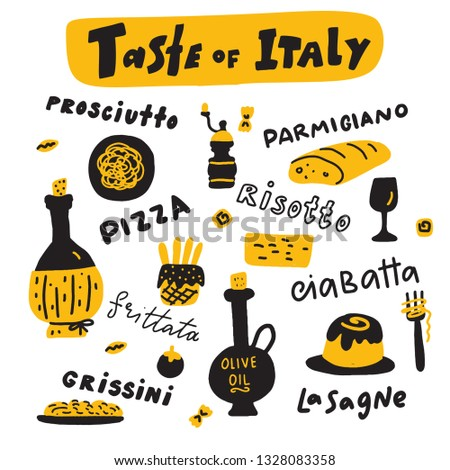 taste of italy doodle
