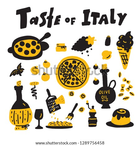 taste of italy doodle