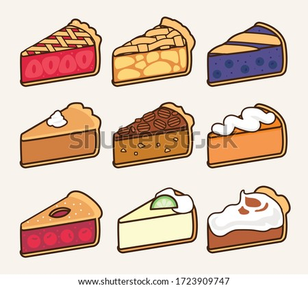 tasty baked pie collection with