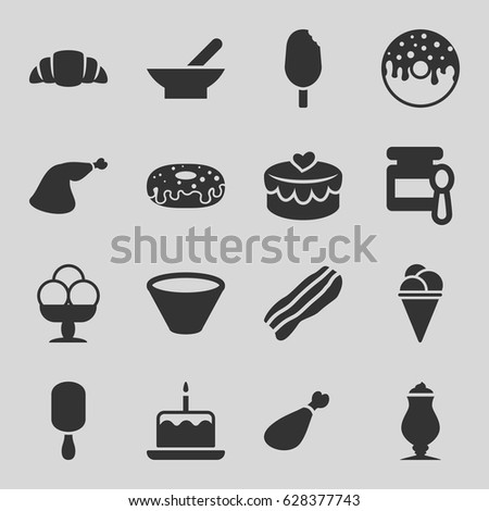 tasty icons set set of 16