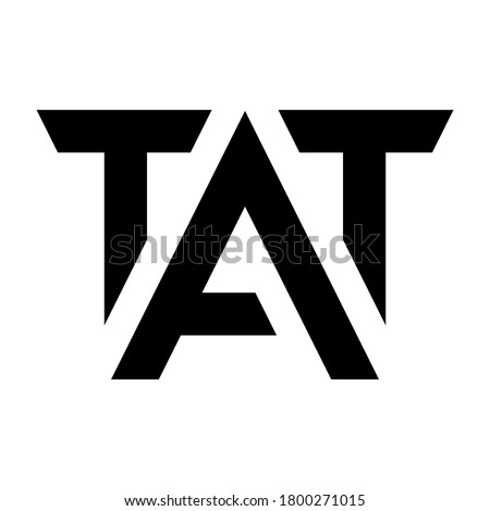 tat vector logo design for real estate companies, offices, technology and etc. thank you Photo stock ©
