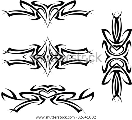 stock vector Tattoo Arm Band Set