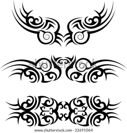 Tattoo Arm Band Set - stock vector
