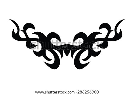 tattoo art designs simple logo individual designer isolated element for decorating the body of