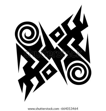 Tattoo art designs tribal sketch.Ideas creative tattoo ornament.Vector illustration.