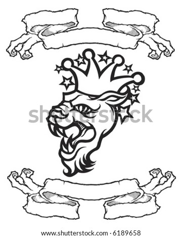 stock vector : Tattoo Banner Group