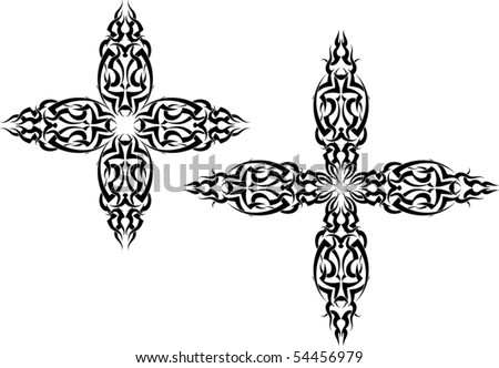 stock vector : Tattoo Christian Cross