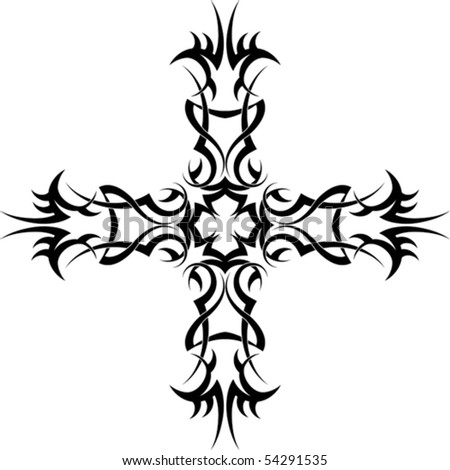 stock vector tattoo Cross