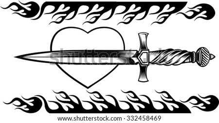 tattoo dagger knife