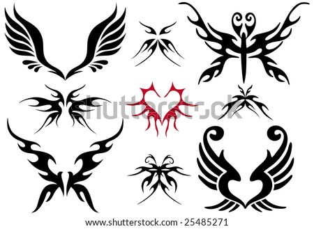 tattoo.png Tree Silhouette Tattoo stock vector : tattoo design set,