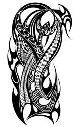 Tattoo design, shoulder abstract tattoo