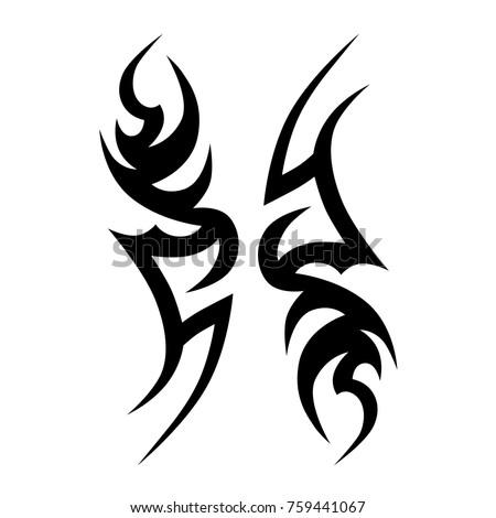 Tattoo designs. Tattoo tribal vector designs. Art tribal tattoo. Tattoos ideas. Creative tattoo ornament vector.