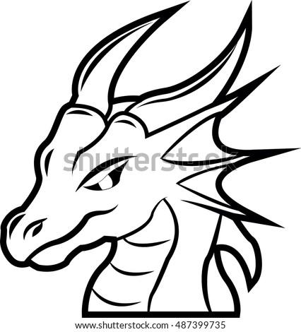 tattoo dragon head black and white design ez canvas