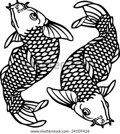 stock vector : Tattoo Fish Japan